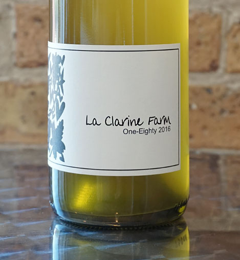 La Clarine Farm 2017 'One-Eighty' White Blend, Sierra Foothills