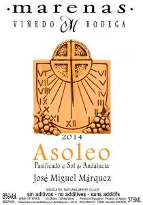Marenas Vinedo y Bodega (375 ml) 2014 'Asoleo' Moscatel, Andalusia (Montilla-Moriles)