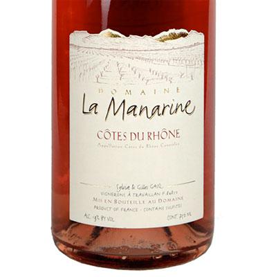 Domaine La Manarine 2016 Cotes du Rhone Rose AOC