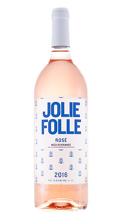 Jolie Folle (1 L) 2016 Rose, Méditerranée IGP (Provence)