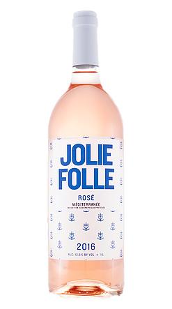 Jolie Folle (3 L) 2016 Rose, Mediterranee IGP (Provence)