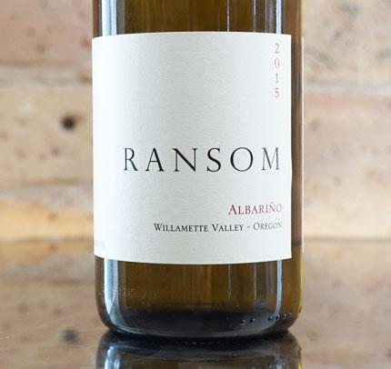 Ransom Wines & Spirits 2015 Albarino, Willamette Valley