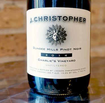 J. Christopher 2016 Pinot Noir, Charlie's Vineyard, Dundee Hills