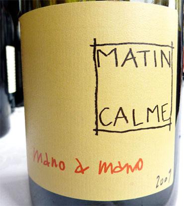 Domaine Matin Calme 2015 'Mano a Mano' (Grenache/Carginan), Vin de France (Roussillon)