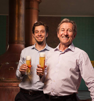 Edouard Haag (left) and Michel Haag (right) pictured below are 7th and 8th generation brewers!