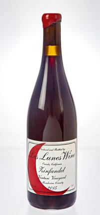 Les Lunes Wine 2016 Zinfandel, Venturi Vineyard, Mendocino County