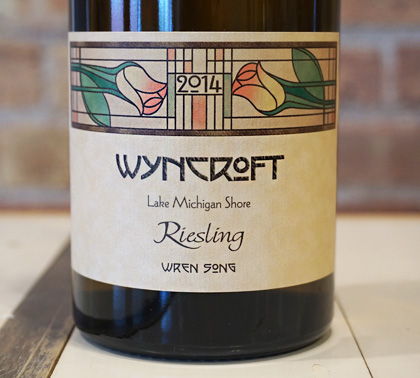 Wyncroft 2014 Riesling (Dry), Wren Song Vineyard, Lake Michigan Shore