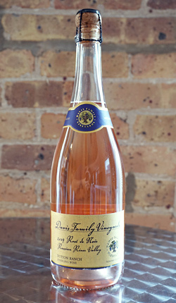 Davis Family Vineyards 2015 Sparkling Rose de Noir, Dutton Ranch, Russian River Valley