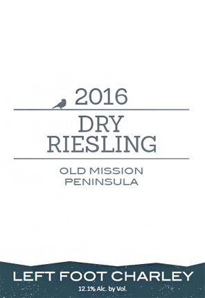 Left Foot Charley 2016 Riesling (Dry), Old Mission Peninsula