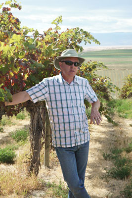 David O'Reilly in Red Willow Vineyard