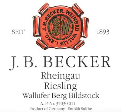 J.B. Becker 1990 Riesling Spatlese Dry, Berg Bildstock, Rheingau