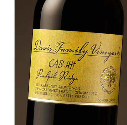 Davis Family Vineyards 2015 'CAB 5' Bordeaux Blend, Rockpile Ridge