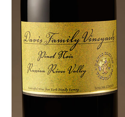 Davis Family Vineyards 2016 Pinot Noir, Russian River Valley