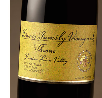 Davis Family Vineyards 2016 'Throne' Rhone Blend, Russian River Valley