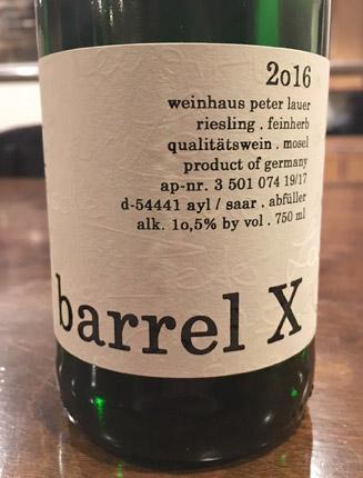 Peter Lauer 2017 'Barrel X' Riesling (Off-Dry), Saar