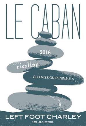 Left Foot Charley 2018 'Le Caban' Riesling, Old Mission Peninsula