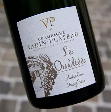 Champagne Vadin-Plateau NV 'Les Oubliees' Zero Dosage, Champagne AOC