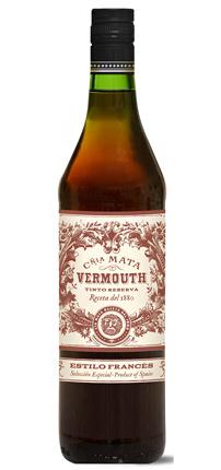 Mata Vermouth Tinto, Spain (30 proof)