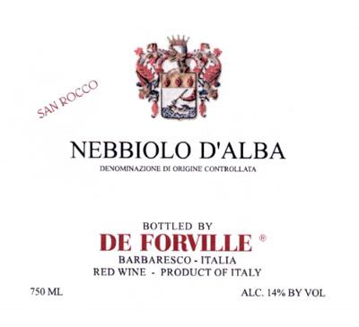 De Forville 2017 Nebbiolo d'Alba, San Rocco, DOC