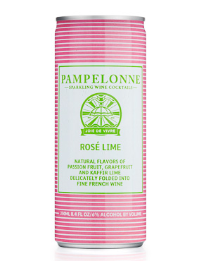 Pampelonne (250 ml) NV Rose Lime, France (4pk can)