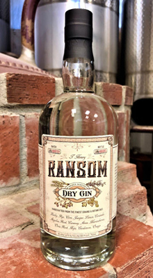 Ransom Wines & Spirits Dry Gin (86 proof)