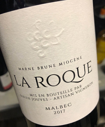 Fabien Jouves 2017 Malbec, La Roque Vineyard, Vin de France (Cahors)