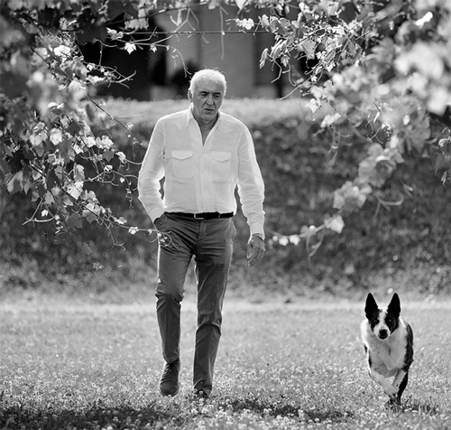 Graziano Prà and his Border Collie Otto