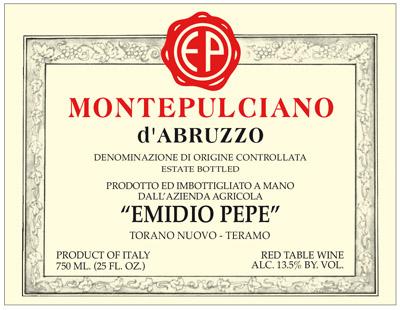 Emidio Pepe 2010 Montepulciano d'Abruzzo DOC
