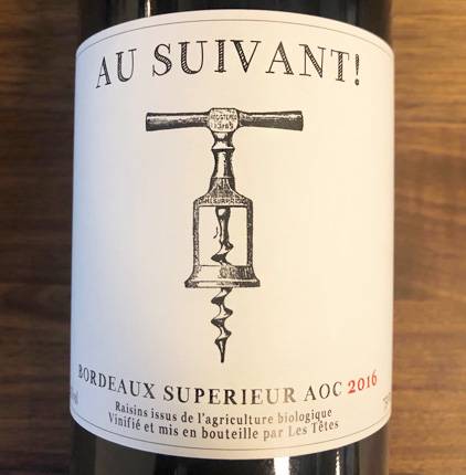 Les Tetes 2016 'Au Suivant' Bordeaux Superieur AOC