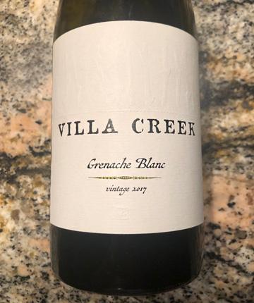 Villa Creek 2017 Grenache Blanc, Paso Robles