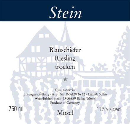 Stein 2017 'Blauschiefer' Riesling Trocken (Dry), Mosel