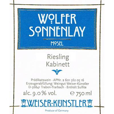 Weiser-Kunstler 2017 Riesling Kabinett, Wolfer Sonnenlay, Mosel