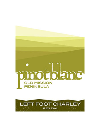 Left Foot Charley 2017 Pinot Blanc, Old Mission Peninsula