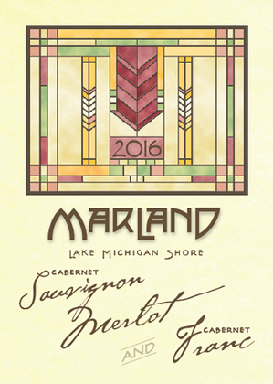 Wyncroft 2018 'Marland' Red Bordeaux Blend, Lake Michigan Shore
