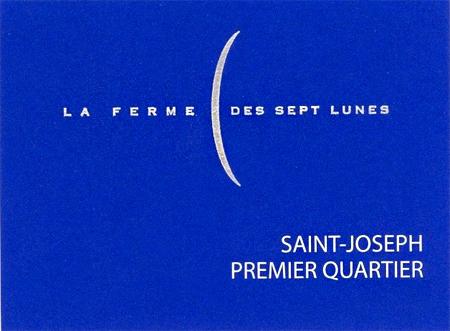 La Ferme des Sept Lunes 2016 'Premier Quartier' Saint-Joseph AOC