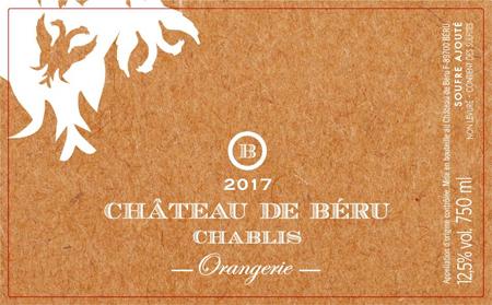 Chateau de Beru 2017 Chablis, Orangerie, AOC (SS)