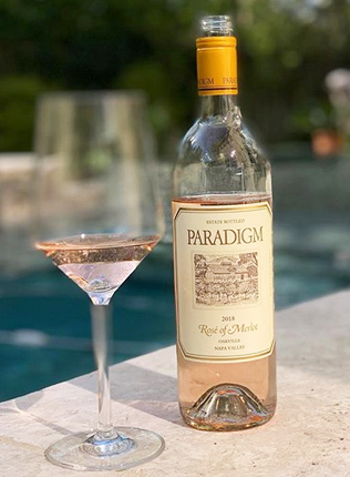 Paradigm Winery 2018 Rose of Merlot, Oakville