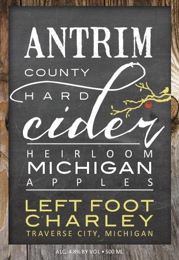 Left Foot Charley (19.6 L) 'Antrim County' Hard Cider, Michigan (Keg)