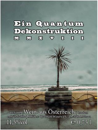 Quantum Winery 2018 'Dekonstruktion' Gruner Veltliner, Austria (Weinviertel)