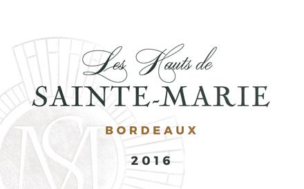 Chateau Sainte-Marie 2016 'Les Hauts de Sainte-Marie' Bordeaux Rouge AOP