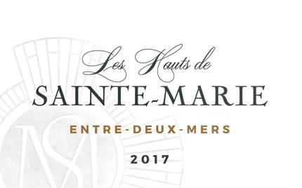 Chateau Sainte-Marie 2018 'Les Hauts de Sainte-Marie' Entre-Deux-Mers Blanc AOP