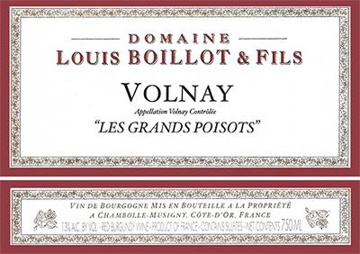 Domaine Louis Boillot 2017 Volnay, Les Grands Poisots, AOC