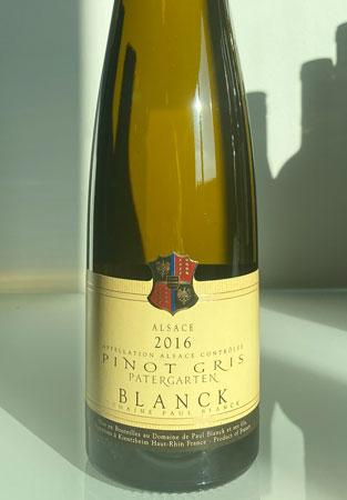 Domaine Paul Blanck 2016 Pinot Gris, Patergarten, Alsace AOC
